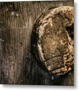 Antique Wine Barrel Cork Metal Print