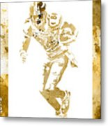 Antonio Brown Pittsburgh Steelers Water Color Art 4 Metal Print