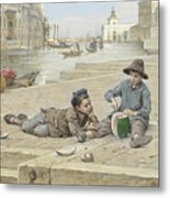 Antonio Ermolao Paoletti The Melon Sellers Metal Print