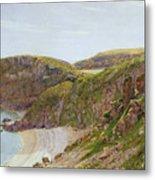 Antsey's Cove South Devon Metal Print