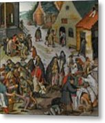 Antwerp The Seven Acts Of Mercy Metal Print