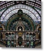 Antwerp Train Terminal Metal Print
