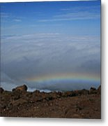 Anuenue - Rainbow At The Ahinahina Ahu Haleakala Sunrise Maui Hawaii Metal Print