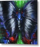 Anxious Butterfly Metal Print