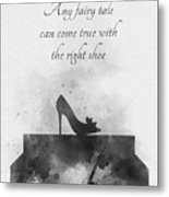 Any Fairy Tale Can Come True Black And White Metal Print