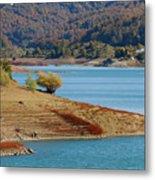 Aoos Lake Shore In Epirus, Greece Metal Print