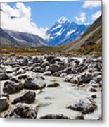 Aoraki Mount Cook Hooker Valley Southern Alps Nz Metal Print