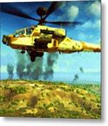 Apache Ai Assault - Operation Desert Wolves Metal Print