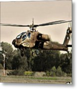 Apache Helicopter Metal Print