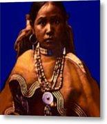 Apache Maiden Metal Print