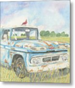 Apache Out To Pasture Metal Print