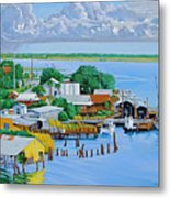 Apalachicola Waterfront Metal Print