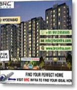 Apartments For Sale In Gachibowli, Manikonda, Hyderabad Metal Print