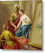 Apelles In Love With The Mistress Of Alexander Metal Print