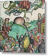 Apocalypse, Nuremberg Chronicle, 1493 Metal Print