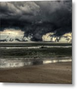 Apocalyptic Clouds Over The Atlantic Metal Print