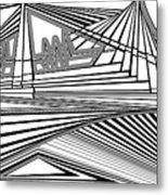 Apocalyptic Ringside View Metal Print