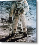 Apollo 11 Buzz Aldrin Metal Print