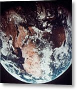 Apollo 11: Earth Metal Print