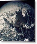 Apollo 16: Earth Metal Print