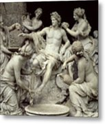 Apollo Tended By The Nymphs, Intended For The Grotto Of Thetis Metal Print