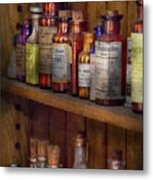 Apothecary - Inside The Medicine Cabinet  Metal Print