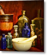 Apothecary - Tools Of The Pharmacist Metal Print