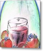 Apple And Blueberry Drink Metal Print