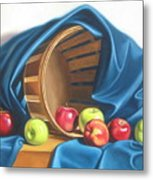 Apple Basket Metal Print