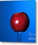 Apple Before Bullet Impact Metal Print