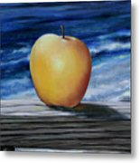 Apple By The Sea Metal Print