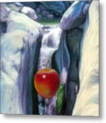 Apple Falls Metal Print