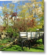 Apple Farm Cart Metal Print