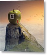 Apple House Metal Print
