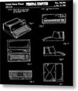 Apple Macintosh Patent 1983 Black Metal Print