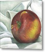 Apple Portrait Metal Print