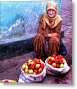 Apple Seller Metal Print