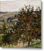 Apple Trees Near Vetheuil Metal Print by Claude Monet