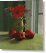 Apples And Gerbers Metal Print