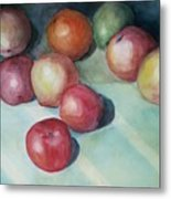 Apples And Orange Metal Print