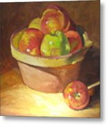 Apples In A French Bowl. Metal Print