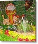 Apples In Autumn In Bellagio Conservatory In Las Vegas- Nevada Metal Print