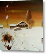 Apples On The Snow Metal Print