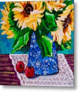 Apples  Sunflowers Metal Print
