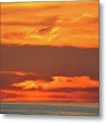 Approaching August Sunrise At Lake Simcoe  Metal Print