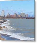 Approaching Chicago Metal Print