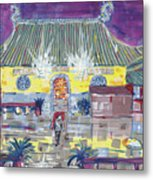 Approaching Dongwu Temple On Chinese New Years Eve Metal Print