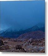 Approaching Snow Storm Metal Print
