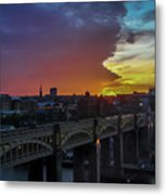 Approaching Storm At Sunset Metal Print