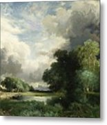 Approaching Storm Clouds Metal Print by Thomas Moran